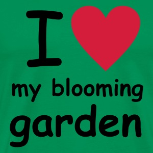 Grass green I love my blooming garden Men's Tees (short-sleeved) - Men's Premium T-Shirt
