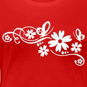 Rot flower tribal tattoo design Girlie - Frauen Premium T-Shirt