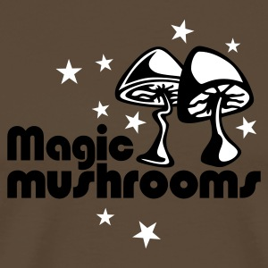 Brown Magic mushrooms T-Shirt - T-shirt Premium Homme