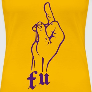 Yellow f_u_fuck_you T-Shirts - Women's Premium T-Shirt