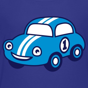 Sky Blue racing car Juniors - Teenager Premium T-shirt