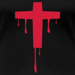 Sort cross_kreuz_melting T-shirts - Dame premium T-shirt