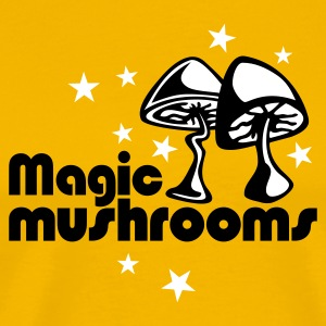 Yellow Magic mushrooms T-Shirt - Herre premium T-shirt