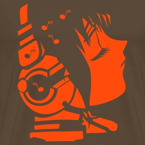 Brown future_sound3 T-Shirts - Men's Premium T-Shirt