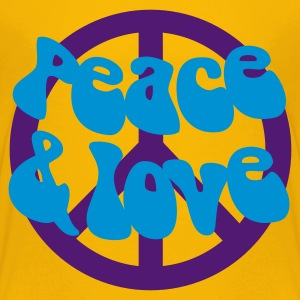 Groovy Peace and Love - Teenager Premium T-Shirt