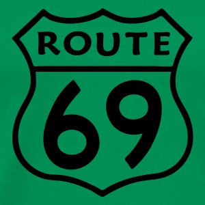 Grass green route69 Men's Tees (short-sleeved) - Men's Premium T-Shirt