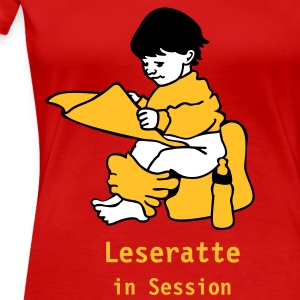 Stereo rot Leseratte in Session T-Shirts (Kurzarm) - Frauen Premium T-Shirt