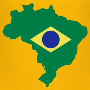 Yellow Brazil Kid's Shirts  - Teenage Premium T-Shirt