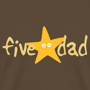 Brown five star dad T-Shirt - Männer Premium T-Shirt
