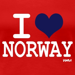 Rouge i love norway T-shirts (m. courtes) - T-shirt Premium Femme