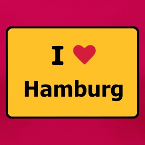 Light pink I Love Hamburg T-Shirts (Kurzarm) - Frauen Premium T-Shirt