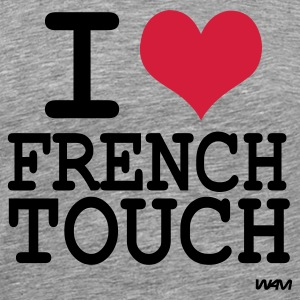 Cendre i love french touch T-shirts (m. courtes) - T-shirt Premium Homme