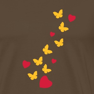 Brown butterfly_love T-Shirts - Men's Premium T-Shirt
