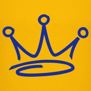 Yellow graffiti style crown Juniors - Premium-T-shirt tonåring