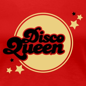 Dark red disco queen Women's Tees - Women's Premium T-Shirt