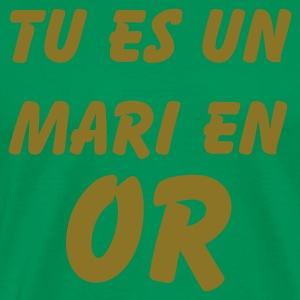 Vert bouteille mari or T-shirts - T-shirt Premium Homme