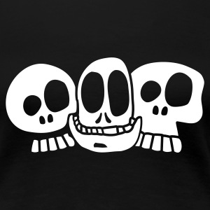 Black The Skulls Ladies' - Women's Premium T-Shirt