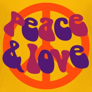 Groovy Peace and Love - Teenage Premium T-Shirt