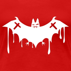 Red BAT_fledermaus_death2 T-Shirts - Women's Premium T-Shirt