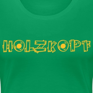 Kelly green holzkopf4 T-Shirts - Frauen Premium T-Shirt