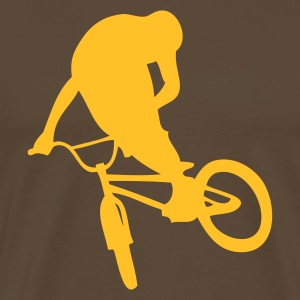 BMX Brown /Yellow - T-shirt Premium Homme