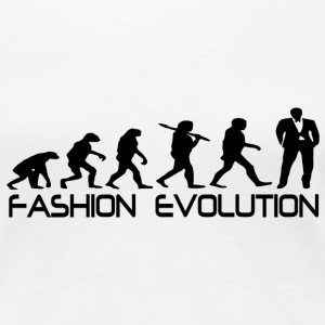 Weiß fashion evolution T-Shirts - Frauen Premium T-Shirt