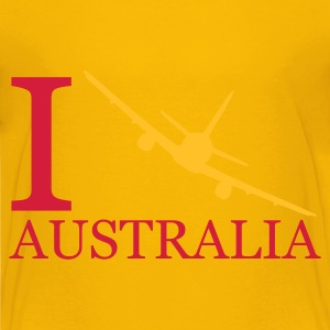 Gelb I travel Australien - reisen - fliegen Kinder Shirts - Teenager Premium T-Shirt