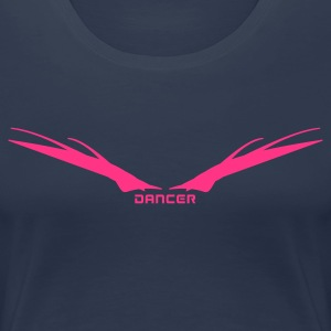 Navy Dancer Wings Women's Tees - Women's Premium T-Shirt