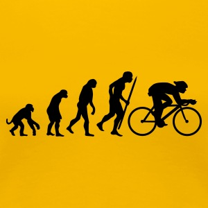 Yellow Evolution of cycling Women's Tees - Women's Premium T-Shirt