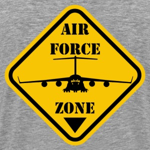 Cendre air force zone T-shirts - T-shirt Premium Homme