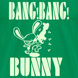 Bottlegreen Bang Bang Bunny Men's Tees - Men's Premium T-Shirt