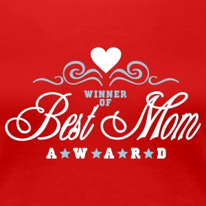 Mørkerød Vinder af Best Mom Award / Winner of Best Mom Award (2c) T-shirts - Dame premium T-shirt