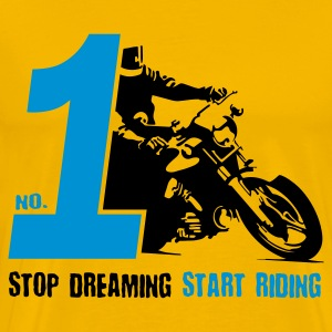No 1 Start Riding - wit - Mannen Premium T-shirt