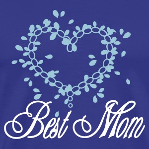 Royal blue best mom (1c) Men's Tees - Men's Premium T-Shirt