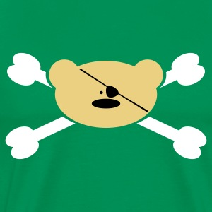 Bottlegreen Teddy Pirat T-Shirts - Männer Premium T-Shirt