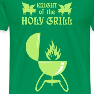 Vert bouteille Knight of the holy grill (Txt, 2c) T-shirts - T-shirt Premium Homme