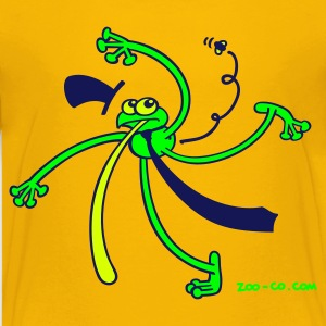 Yellow Dancing Frog Kid's Shirts  - Teenage Premium T-Shirt