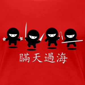 Dark red Ninja Gang Women's Tees - Women's Premium T-Shirt