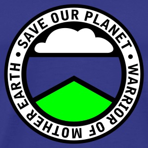 Royal blue earthwarriorgreen_3f Men's Tees - Men's Premium T-Shirt