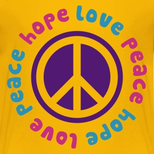 Peace Hope Love - Teenage Premium T-Shirt