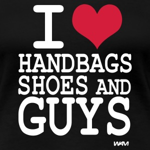 Schwarz i love shoes handbags and guys by wam T-Shirts - Frauen Premium T-Shirt