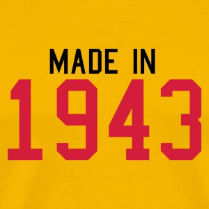 Yellow 1943 Men's Tees - Men's Premium T-Shirt