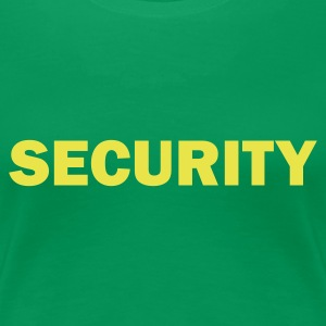 SECURITY Girlieshirt kellygreen, Motiv gelb - Frauen Premium T-Shirt
