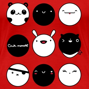 Stereo rot kawaiifaces - www.cute-monstR.de T-Shirts - Frauen Premium T-Shirt