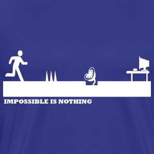 Bleu royal Impossible Is Nothing T-shirts - T-shirt Premium Homme
