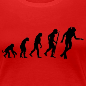 Red Evolution of Scuba diving Women's Tees - Women's Premium T-Shirt