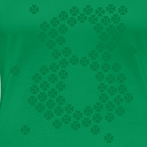 Grass green Glücksklee Acht / lepricon lucky eight (1c) Women's T-Shirts - Women's Premium T-Shirt