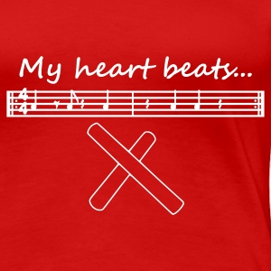 My heart beats... (3-2 Son Clave) - Frauen Premium T-Shirt