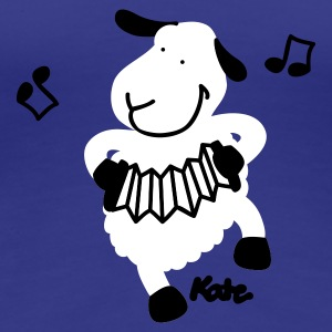 Royal blue sheep (c) Women's T-Shirts - Women's Premium T-Shirt
