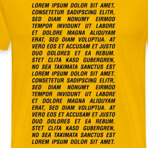 Yellow  Men's Tees - Men's Premium T-Shirt